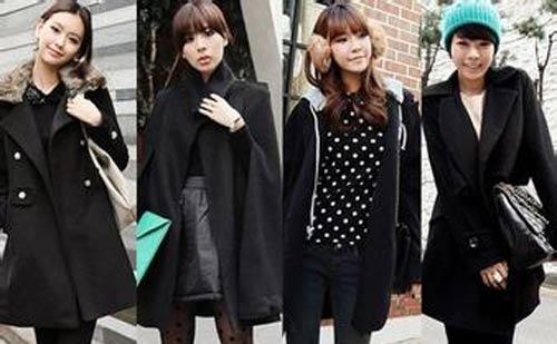 冬季宽松大衣搭配,让胖女生更显瘦